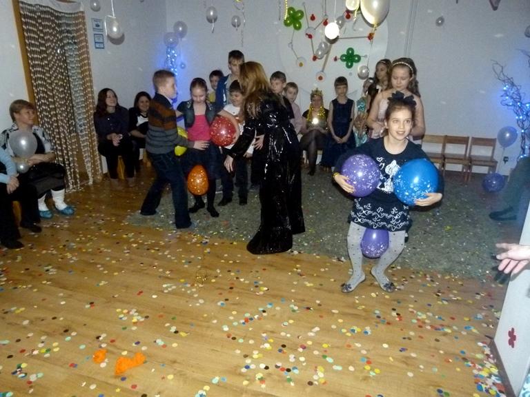 Сценарий для детей в клубе на новый